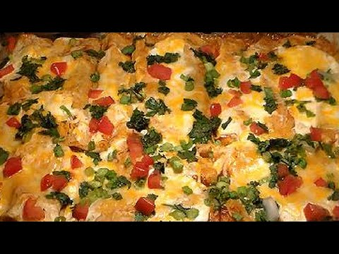 Easy Cheesy Sour Cream Chicken Enchiladas Recipe