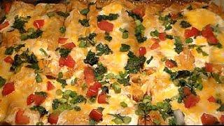 Easy Cheesy Sour Cream Chicken Enchiladas Recipe: How To Make Homemade Chicken Enchiladas