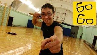Палка против ножа и защита от палки голыми руками — уроки самозащиты от оружия Алексея Минигалина(Подписка на канал