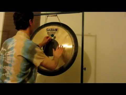 "28"" Sabian Symphonic Gong with Friction Mallet (Demo from Artdrum.com)"