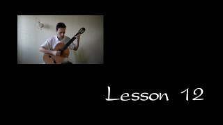 Lesson 12 Classical Guitar