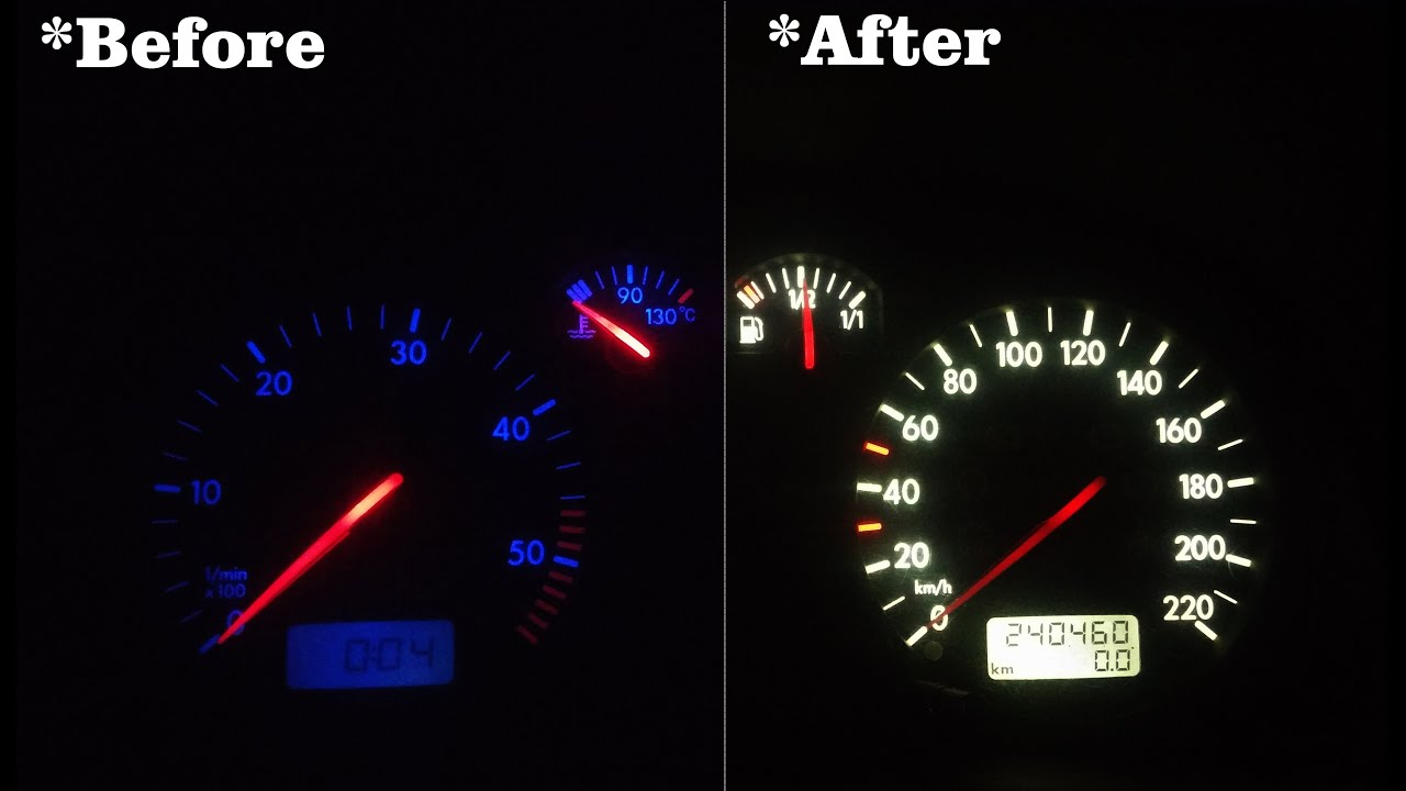 Vw golf 4 dashboard lights lightneasy how to change dash leds on golf mk4 you biocorpaavc Image collections