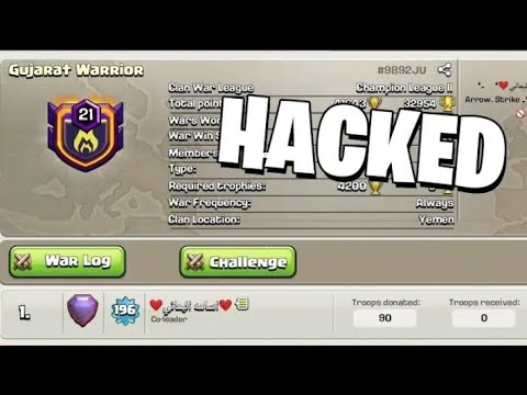 OMG INDIAN TOP CLAN HACKED | GUJARAT WARRIOR | CLASH OF CLAN