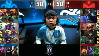 C9 vs IM Highlights World Championship 2016 D4 Cloud9 vs I May