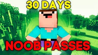 NOOB PASSES MINECRAFT 30 DAYS! - WORLD RECORD