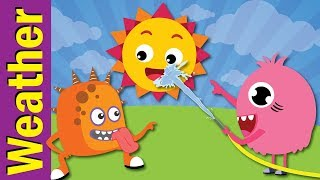 Weather Song for Kids | Sunny, Cloudy, Rainy, Snowy | Kindergarten & ESL | Fun Kids English