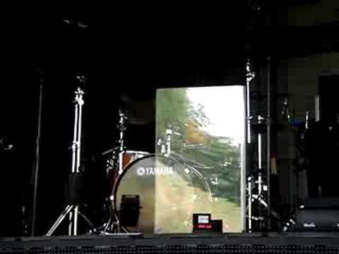 Adam Levine Drums at Soundcheck