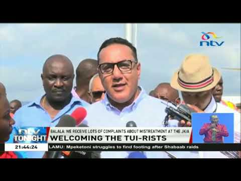 Over 100 tourists jet into Mombasa on a TUI Fly charter plane