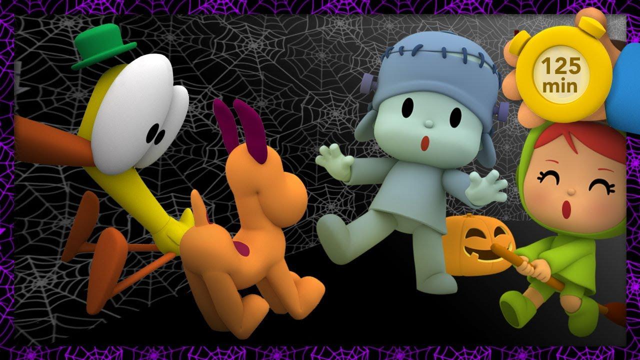 👻 POCOYO E NINA - Sustos no halloween [125 minutos]   DESENHOS ANIMADOS para crianças