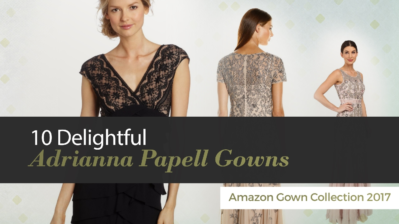 10 Delightful Adrianna Papell Gowns Amazon Gown Collection 2017 ...