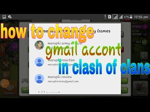 TUTORIAL #2 : How To Change Clash of Clans Gmail Account (Google and Apple ID) | 100% Work