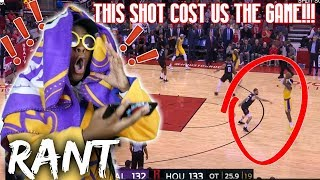 WHAT IS WRONG WITH KCP?! LAKERS LOST THE ROCKETS GAME BECAUSE OF ONE SHOT! (RANT)