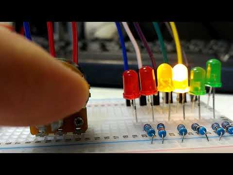 【Arduino電路實驗】電位器控制跑馬燈的速度