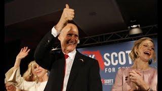 RICK SCOTT FINALLY WINS FLORIDA SENATE. BILL NELSON DEMANDING THIRD RECOUNT
