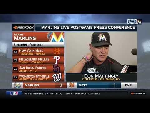 Don Mattingly -- Miami Marlins at New York Mets 08/18/2017