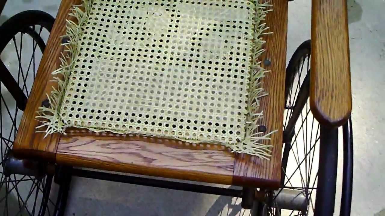 Antique Wheelchair Wicker Seat Restoration Caning - Antique Wheelchair Wicker Seat Restoration Caning - YouTube