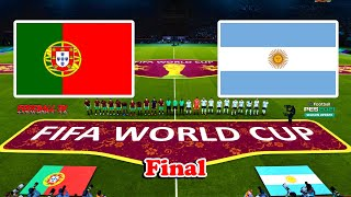 PORTUGAL vs ARGENTINA FIFA World Cup Final PES 2021 Gameplay PC