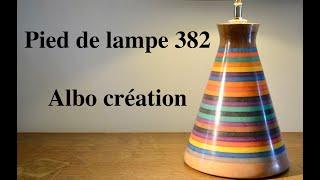 CREATION PIED DE LAMPE 382. Valchromat