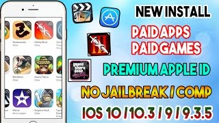 New How To Install Paid Apps / Games Free (PREMIUM ID) (NO JAILBREAK) iOS 10/10.3/9 iPhone/iPod/iPad