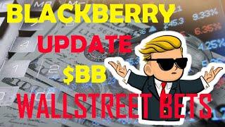 Black berry $bb stock update | wallstreet bets due diligence #bb #stocks