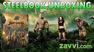 Jumanji Welcome To The Jungle 4K, Blu-Ray Zavvi Exclusive Steelbook Unboxing Early Unboxing