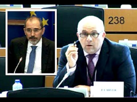 Foreign affairs committee: UKIP MEP James Carver questions Jordanian foreign minister