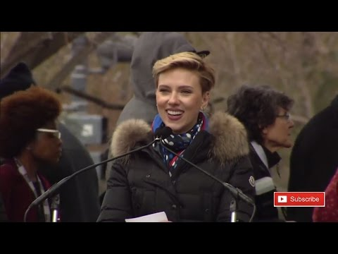 Scarlett Johansson Women's March Speech on Washington Anti Donald Trump Protest ✔