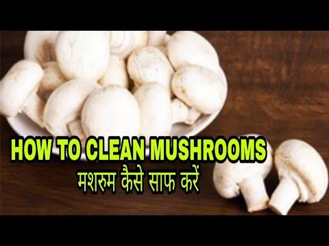How to clean mushrooms/मशरुम कैसे साफ करे /मशरुम साफ करने का सही तरीका
