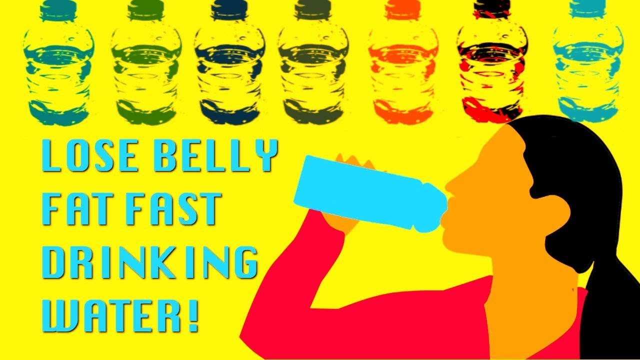 can you lose belly fat drinking water