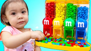 Baby Maddie Pretend Play with Chocolate Candy Machine Toy | Toddler Want Sweets and Candies