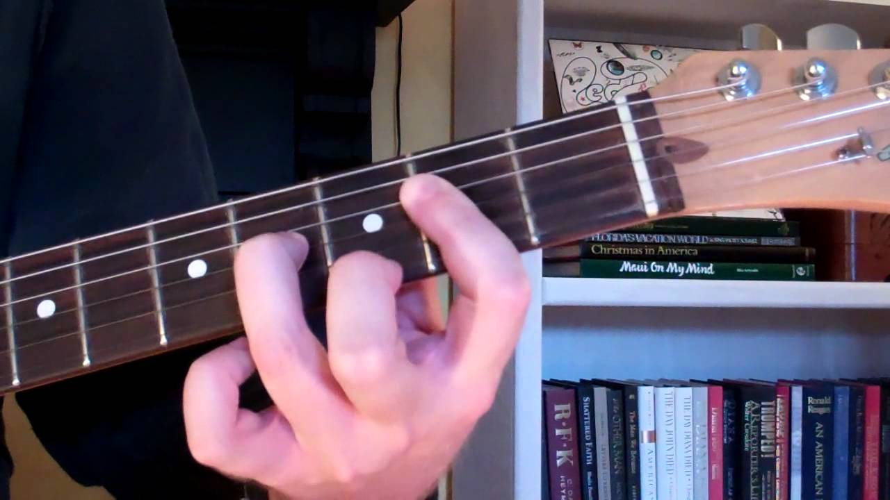 How To Play The A9 Chord On Guitar A Ninth Youtube