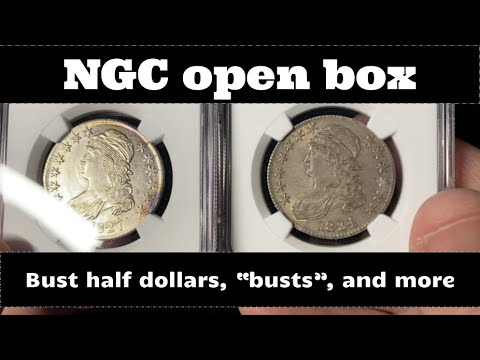 NGC Open Box Coin Grade Results  - Bust Half Dollars,