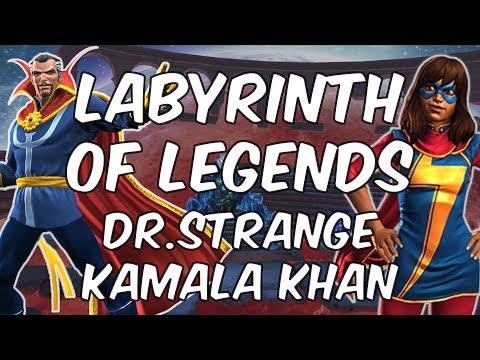 Labyrinth of Legends - Dr. Strange and Kamala Khan - Marvel Contest Of Champions