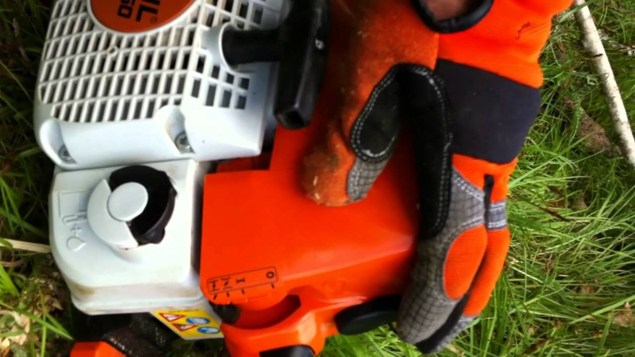 stihl ms250 chainsaw cold start  YouTube