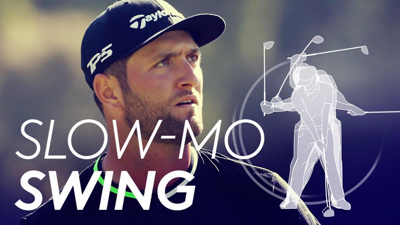 Jon Rahm's golf swing in Slow Motion