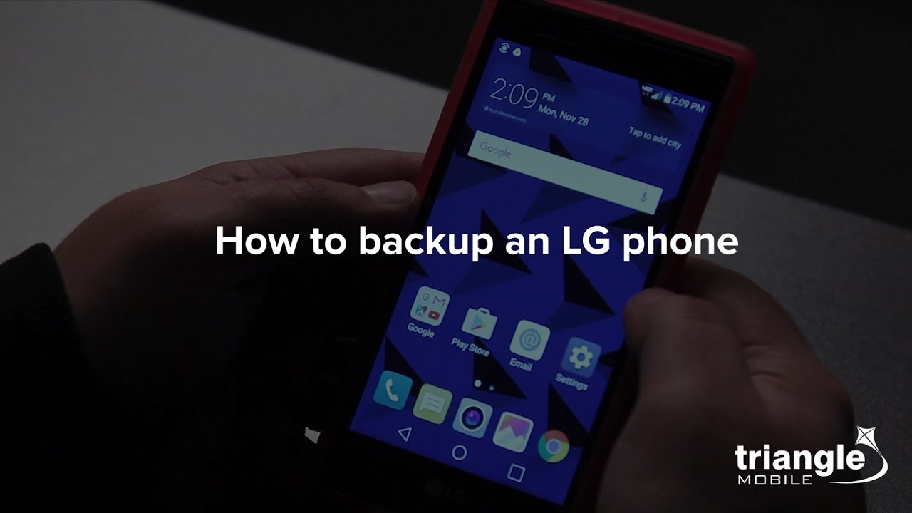 How to backup an LG phone