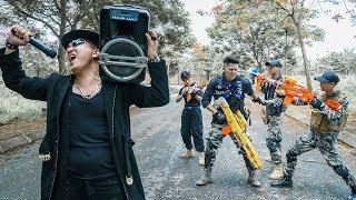 Nerf Guns War : Police Men Of TTNerf Team Special Attack Arrest Boss XX Criminal Dangerous