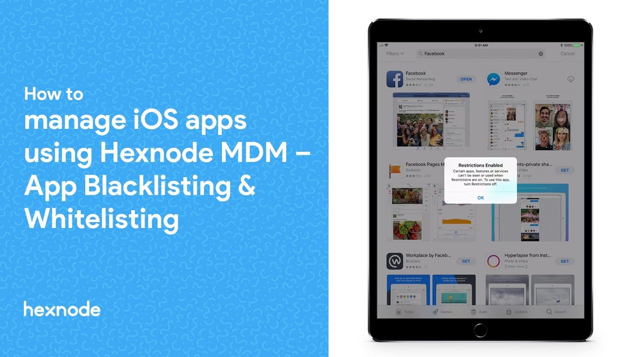How to manage iOS apps using Hexnode MDM – App blacklisting and whitelisting