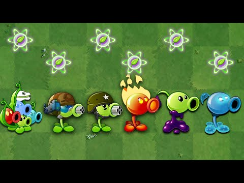 Plants VS. Zombies 2 | All Peashooter Challenge & Power up! VS Brickhead Zombie 2