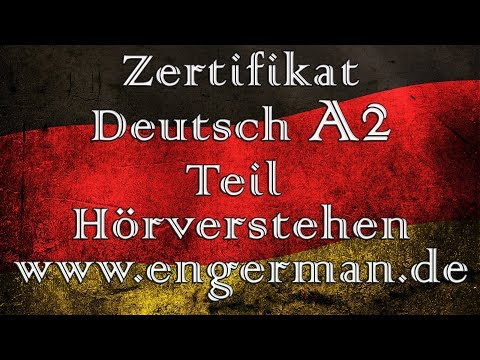 Zertifikat Deutsch A2 Start Deutsch A2 Modelltest 2 Youtube