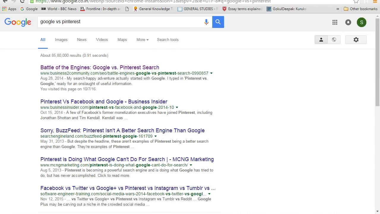 Pinterest Vs Google explained- Hashfo