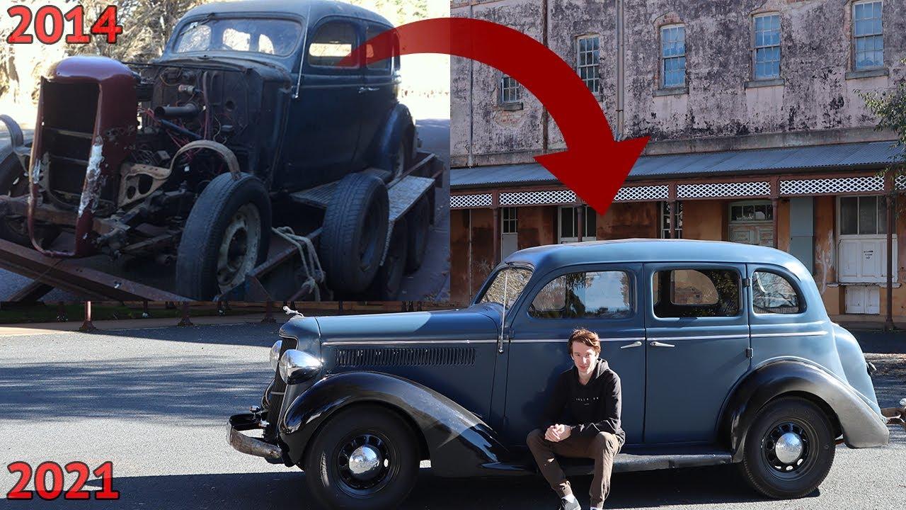 Wrecked Vintage Car - 1935 Dodge - Full Restoration