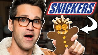 snickers gingerbread man