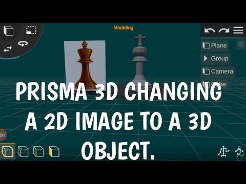 Prisma 3D : Converting a 2d image to a 3d object
