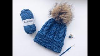 Вязаная шапка спицами// МК//Шапка для мальчика//Шапка для девочки