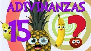 Adivinar Jugando con las 15 Adivinanzas y acertijos de Frutas _ Video para niños