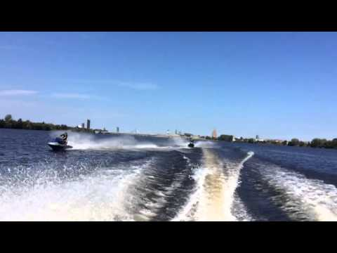 Riga jet ski speed boat Daugava 25.07.2015