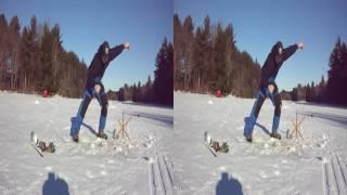 Survivor Man Ice Fishing Bloopers