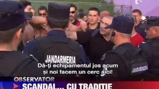 Scandal intre suporteri si jandarmi in Timisoara 24 AUGUST 2011