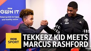 'Who is the fastest player at Manchester United?' Tekkerz Kid meets Marcus Rashford - BBC Sport